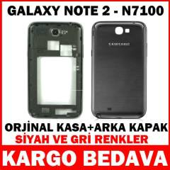 SAMSUNG GALAXY NOTE 2 KAPAK KASA FULL SET N7100