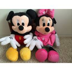 Mickey mouse minnie mouse set pelu� oyuncak 32cm