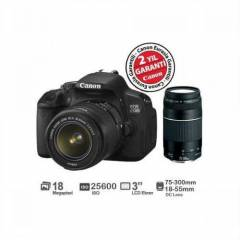 Canon EOS 650D 18-55mm DC III + 75-300mm DC III