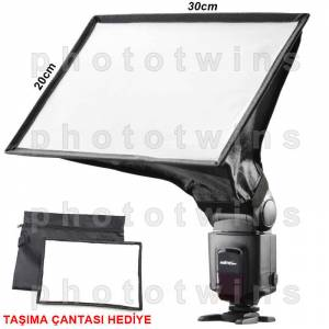 Tepe Fla�lar� ��in 20x30cm Softbox Yumu�at�c�