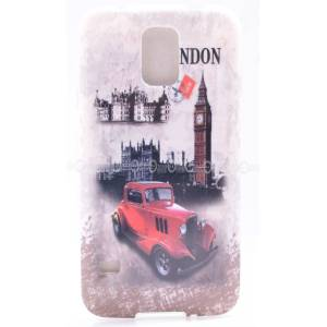 Galaxy S5 K�l�f i9600 London Car Kapak+2 Film