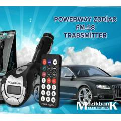 FM TRANSMITTER MP3 USB SD MMC Powerway Zodiac Fm