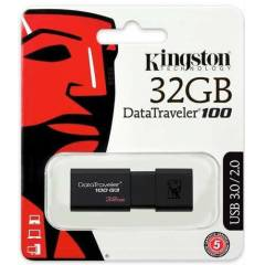 32 GB USB 3.0  K�NGSTON DT100G3 FLASH BELLEK
