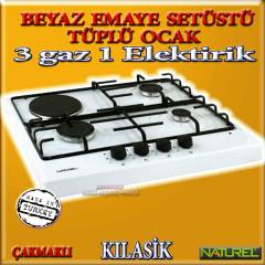Naturel 418 KLAS�K  3+1 �akmakl� set�st� ocak