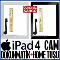 APPLE IPad 4 CAM EKRAN CAMI TOUCHPAD +Home Tu�u