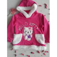 HELLO KiTTY KIZ �OCUK S�VETER KAP�ONLU KAZAK