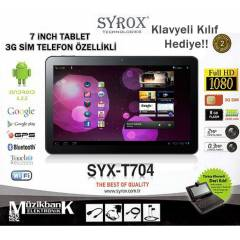 SYROX SYX-T704 7'' TABLET 3G S�M TELEFON �ZELL�L