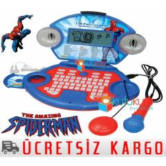 Spiderman Cd Mikrofonlu E�itici Oyuncak Laptop
