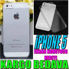 iPHONE 5 KILIF KR�STAL TAM �EFFAF  iPHONE 5S / 5