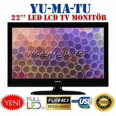 "Yumatu 22"" (57cm) Full HD Usb Led TV 1080P"