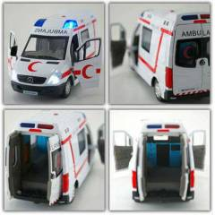 METAL AMBULANS D�ECAST 1/32 �L�EK MERCEDES