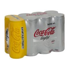Coca Cola 8 X 250 Ml Kutu Light