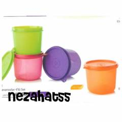 TUPPERWARE M�N� KAVANOZ 4 lu set 550 ml x4 adet