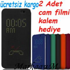 HTC ONE M8 KILIF DOT VIEW KAPAK AKILLI KILIF