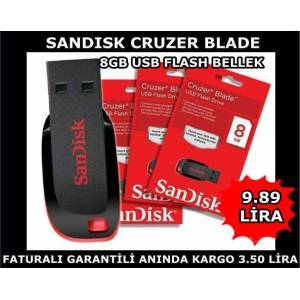 Sandisk Cruzer Blade 8Gb Usb Flash Bellek