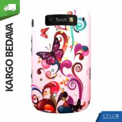 BlackBerry Torch 9800 K�l�f Pembe Kelebekler