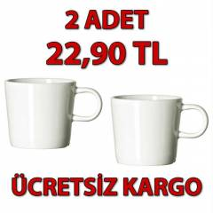 STOCKHOLM 2 Adet Espresso Fincan� (Bone China)