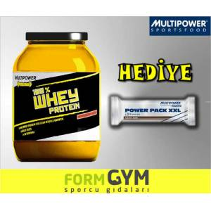 MultiPower %100 Whey Protein 908 g �ik. + HED�YE