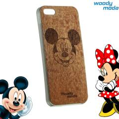iPhone5 Mickey Mouse Ah�ap Cep Telefon K�l�f�