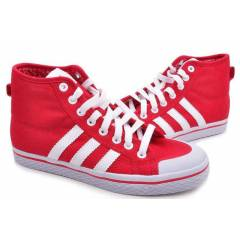 ADIDAS HONEY STRIPES MID RED-WHT wmns shoes