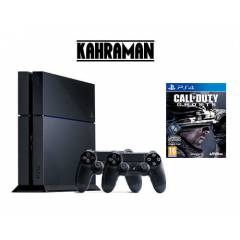 SONY PS4 500 GB+2.KOL+COD=GHOSTS+KULAKLIK+HDMI