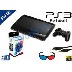 PS3 500 GB 3D SUPER SLIM+MOVE STARTER PACK+HDMI