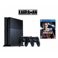 SONY PS4 500 GB+2.KOL+FIFA 14+PS4 KULAKLIK+HDMI