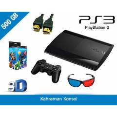 PS3 500 GB 3D SUPER SLIM + MOVE STARTER PACK