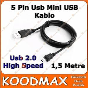 5 Pin USB Kamera Mp3 Mp4 Mp5 Kablosu 1.5m