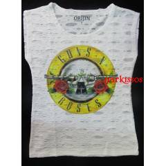 Guns n Roses Rock  Metal   Bayan  Tişort