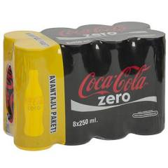 Coca Cola 8 X 250 Ml Kutu Zero
