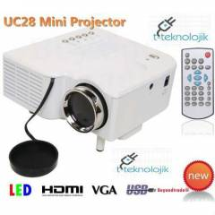 Mini Led Projeksiyon Cihaz� Hdmi-Usb-Sd-Vga-Av