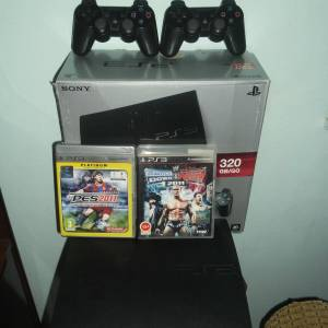 SONY 320GB PLAYSTATION 3 KONSOL+PS3 2OYUN +1 KOL