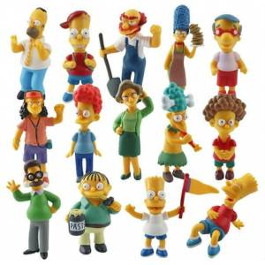THE SIMPSONS fig�r oyuncaklar� 14 set karakter