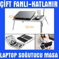 Laptop So�utucu Fan Katlan�r Laptop Masas� Sehpa