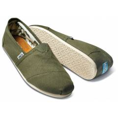 Toms Ayakkab� Olive Canvas Women Classic