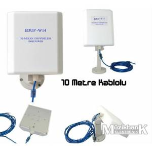 Outdoor 5KM Usb Wireless Edup ED-W14 10 Mt Kablo