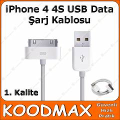 iPhone 4 4S USB Data �arj Kablosu - 1.Kalite