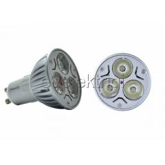 3X1 WATT POWER LED SPOT AMPUL + GU10 +BEYAZ I�IK