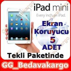 APPLE IPAD MINI M�N� 2 EKRAN KORUYUCU - 5 ADET