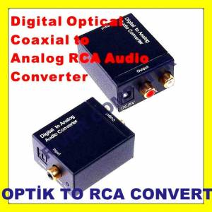 OPT�K COAXIAL TO STEREO RCA CONVERTER �EV�R�C�