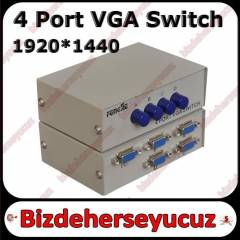 DVR uyumlu Se�meli 4 PORT VGA SWITCH �OKLAYICI