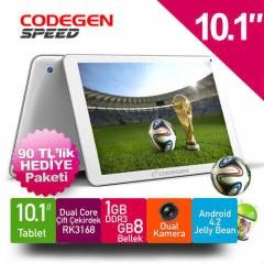 "CODEGEN SPEED 10.1"" TABLET ��FT �EK�RDEK 8GB 1GB"