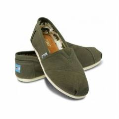 Toms Ayakkab� Olive Canvas Men Classic