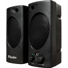 FLAXES 6W RMS 1+1 USB Speaker, Siyah FLX-021