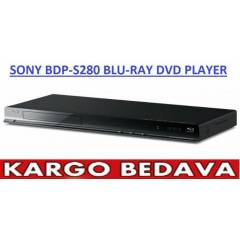 SONY BDP-S280 BLU-RAY PLAYER+HDMI KABLO HED�YES�