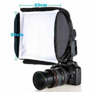 23cm Mini FLASH Softbox Fla� Yumu�at�c� KAL�TE
