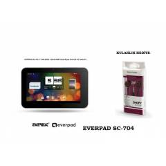 Everest EVERPAD SC-704 7''  Beyaz Tablet OUTLET