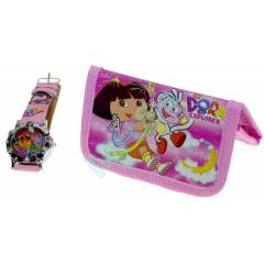 DORA THE EXPLORER SAAT VE C�ZDAN SET