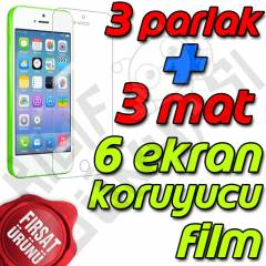 Apple iPhone 5C Ekran Koruyucu Film Tam 6 Adet